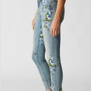 Blank NYC embroidered skinny jeans - size 26